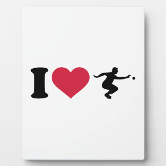 I love Boule Boccia Player Plaque