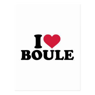 I love Boule Petanque Postcard