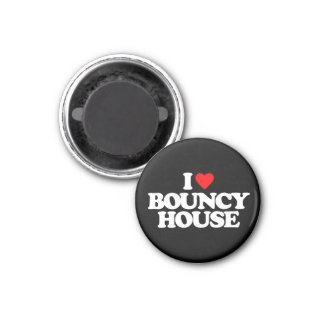 I LOVE BOUNCY HOUSE 1 INCH ROUND MAGNET
