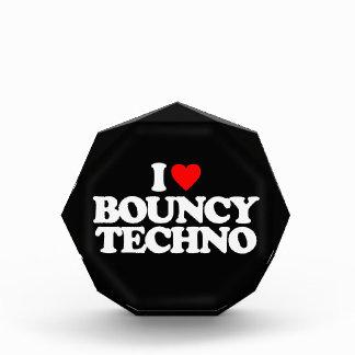 I LOVE BOUNCY TECHNO ACRYLIC AWARD