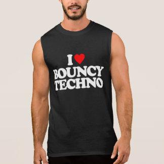 I LOVE BOUNCY TECHNO SLEEVELESS SHIRT
