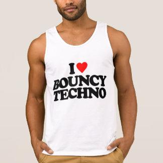 I LOVE BOUNCY TECHNO TANK TOP