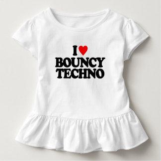 I LOVE BOUNCY TECHNO TODDLER T-SHIRT
