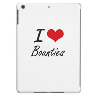I Love Bounties Artistic Design iPad Air Cover