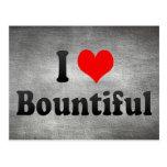 I Love Bountiful, United States Postcard