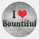 I Love Bountiful, United States Classic Round Sticker