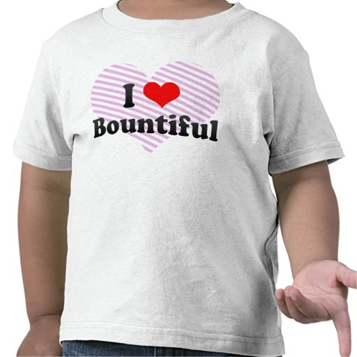 I Love Bountiful, United States T-shirts