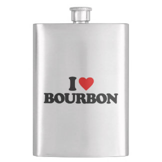 I LOVE BOURBON HIP FLASK