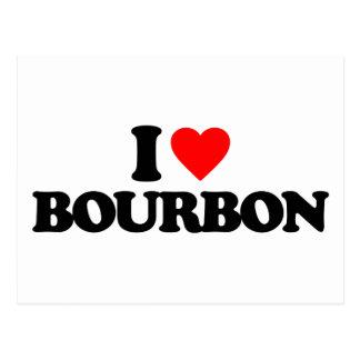 I LOVE BOURBON POSTCARD