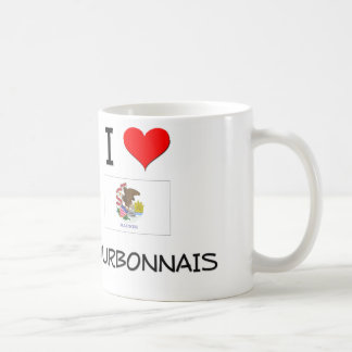 I Love BOURBONNAIS Illinois Coffee Mug