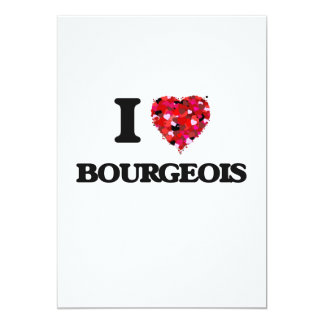 I Love Bourgeois 5x7 Paper Invitation Card
