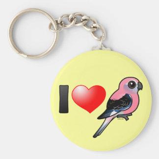 I Love Bourkies Basic Round Button Keychain