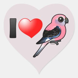 I Love Bourkies Heart Sticker