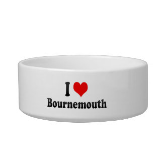 I Love Bournemouth, United Kingdom Cat Food Bowls