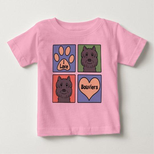 I Love Bouviers Baby T-Shirt