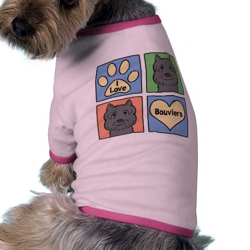 I Love Bouviers Dog T Shirt