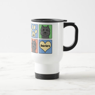 I Love Bouviers Travel Mug