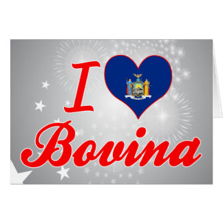 I Love Bovina, New York Greeting Card