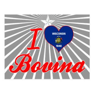 I Love Bovina, Wisconsin Postcard