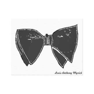 I Love Bow Ties Stretched Canvas Print