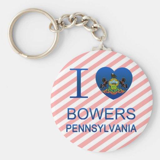 I Love Bowers, PA Basic Round Button Keychain