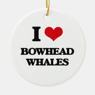 I love Bowhead Whales Christmas Tree Ornament