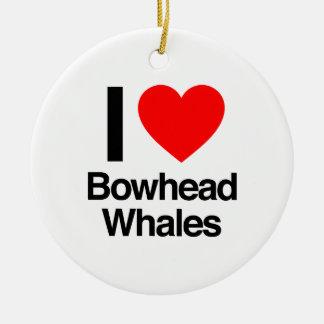 I love bowhead whales christmas ornaments