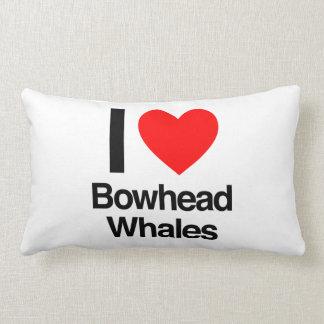 I love bowhead whales pillow