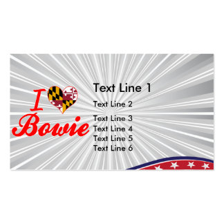 I Love Bowie, Maryland Double-Sided Standard Business Cards (Pack Of 100)