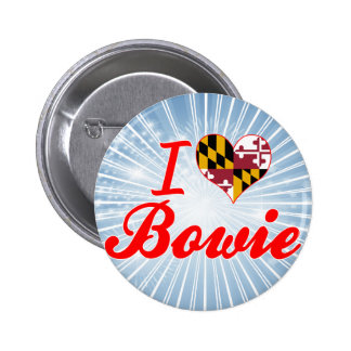 I Love Bowie, Maryland Pinback Button