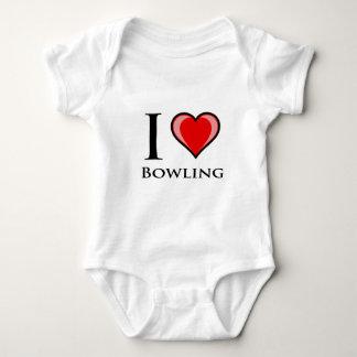 I Love Bowling Baby Bodysuit