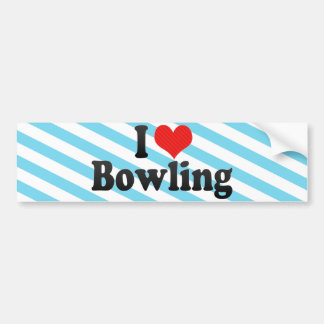 I Love Bowling Bumper Sticker