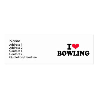I love bowling business card templates