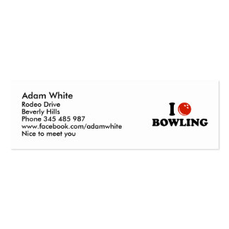 I love Bowling Business Card Template