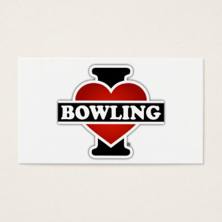 I Love Bowling Business Card