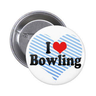 I Love Bowling Pin