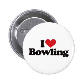 I Love Bowling Buttons