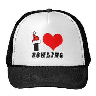 I Love Bowling Design Trucker Hat