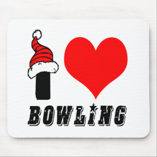 I Love Bowling Design Mouse Pad