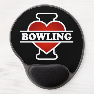 I Love Bowling Gel Mouse Pad
