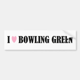 I Love Bowling Green Bumper Sticker