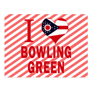 I love Bowling Green, Ohio Postcard