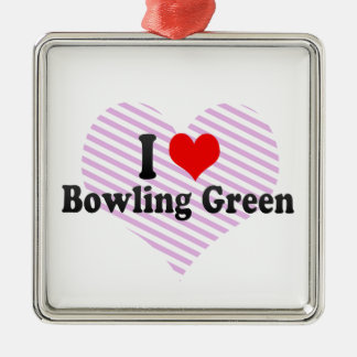 I Love Bowling Green, United States Christmas Ornaments