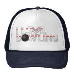I Love Bowling Hat