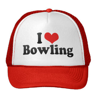 I Love Bowling Trucker Hats