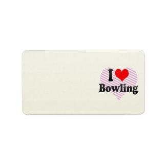 I love Bowling Address Label