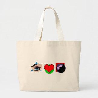 I love bowling large tote bag