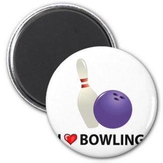 I Love Bowling Magnet