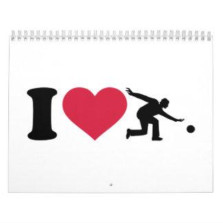 I love Bowling Player Calendar