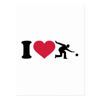I love Bowling Player Postcard